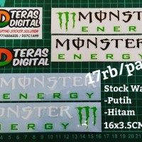 Cutting Sticker Monster Energy Sepasang Kanan Kiri Stiker Helm Motogp
