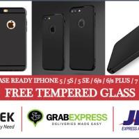 Jual Slim case Iphone 5/6/6+/7/7+ casing (Free Tempered Glass) Murah