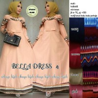 bella dress, maxi dress cantik, simple, model terbaru harga murah
