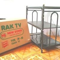 Rak TV Besi hemat ongkir PF 80 + Roda ( TV 14 - 32 Inch )