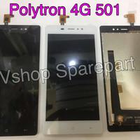Lcd + Touchscreen Polytron Zap 6 4G 501 Black/White