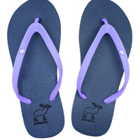 Sandal Panama / Sendal Jepit Wanita Ungu/ Sandal Pantai