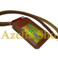 dompet kartu kulit/name tag/asli/id card holder/pria/wanita/premium