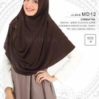 Jilbab/Hijab/Pashmina Syari Munira MD 12 Size M - Coklat Tua