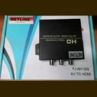 NETLINE Konverter AV To HDMI + Adaptor