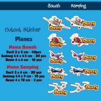Sticker Nama Cutout PLANES