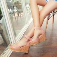 Harga sandal wedges laser cewek wanita hak tinggi salem modis kerja | antitipu.com