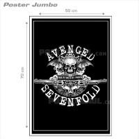 Poster AVENGED SEVENFOLD #32: LOGO - Jumbo size 50 x 70 cm