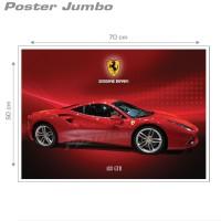 Poster FERRARI 488 GTB - Jumbo size 50 x 70 cm