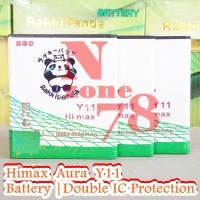 Baterai Himax Aura Y11 Double Power IC Protection Garansi 1 Tahun
