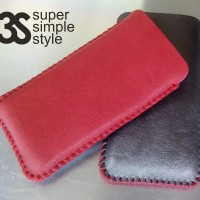 Leather Case Pouch / sleeve Samsung Galaxy A5 (Sarung Celup HP 5 inch)