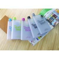 Botol Memo Flat 380ml Portable Free BPA