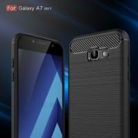 Casing Cover Samsung Galaxy A7 2017 Ipaky Delkin Carbon Fiber