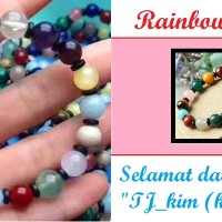 Jual Gelang impor Rainbow Cakra - Cakra Pelangi Natural Gemstone. Murah