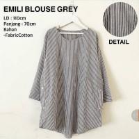 Emily Blouse Grey WD / Atasan wanita muslim / Tunik /Tunic /Hijab