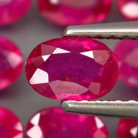 Jual MURAH!! Rb04 batu mulia natural ruby pigeon blood merah delima (24PCS) Murah