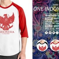 Jual Raglan Garuda One Indonesia 09 - Tshirt - Baju Kaos Distro Rivrez Murah