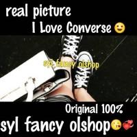sepatu converse / converse shoes /all star ox/low black/hitam original