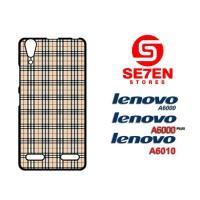 Casing HP Lenovo A6000, A6010, A6000 Plus Burberry pattern Custom Hard