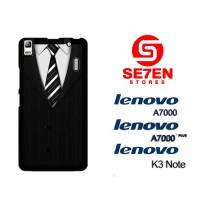Casing HP Lenovo A7000, A7000 Plus, K3 Note Black Suit Custom Hardcase