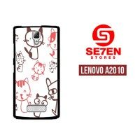 Casing HP Lenovo A2010 Cartoon background Custom Hardcase Cover