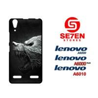 Casing HP Lenovo A6000, A6010, A6000 Plus black wolf Custom Hardcase C