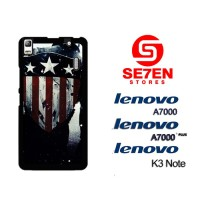 Casing HP Lenovo A7000, A7000 Plus, K3 Note captain america 1 Custom H