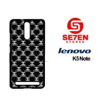 Casing HP Lenovo K5 Note black white channel Custom Hardcase Cover