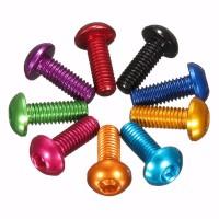 M3 x 12mm Color Screws 10pcs - Aluminium CNC7075