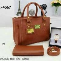 a64604e0b Tas Paket Wanita Tas Fashion Trendi Tas Hand Bag Jam Tangan Camel