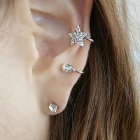 A/6 ER255 Anting Star and Moon Impor Korean Style