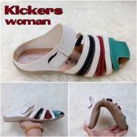 harga Sepatu / Sandal Wanita Kickers Candy White Casual Santai Flat Shoes Tokopedia.com