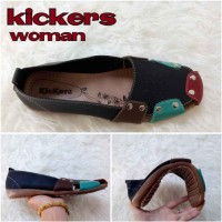 harga Sepatu / Sandal Wanita Kickers Queen Black Casual Santai Flat Shoes Tokopedia.com