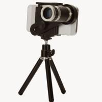 Jual Paket Lensa Telezoom Telescope 8x + Tripod Tele Zoom For Universal HP Murah
