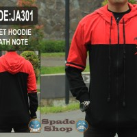 jaket sweater hoodie death note logo,sweater deathnote (spade shop)