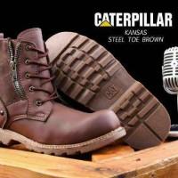 BIG SALE!! Sepatu Boots Pria Masa Kini Caterpillar Kansas Ziper. almo