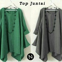 TOP JUNTAI-blouse hijab terbaru-blouse wanita big size-blouse online-L