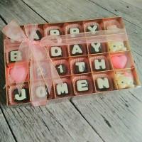 Jual coklat huruf kado hadiah valentine/ulang tahun /anniversary Murah