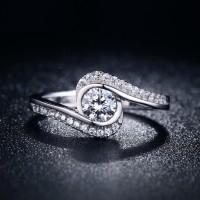 Cincin Berlian Imitasi Lapis Perak Silver (Perhiasan Wanita) - BR007