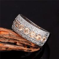 Perhiasan Cincin Wanita Silver Lapis Perak & Berlian Imitasi BR001