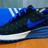 Sepatu replika nike air max love hitam biru/sepatu kets/ sepatu wanita