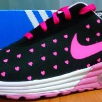 Sepatu replika nike air max love hitam pink/sepatu kets/sepatu wanita