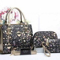 TAS IMPORT Furla Starry Night series 1772 Set 3 in 1 TAS BATAM.MURAH.