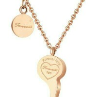 Jual Kalung 18k Rose Gold Platted Forever Love TIFFANY & CO NEW YORK Dupe Murah