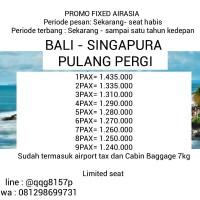 Tiket Pesawat Pulang Pergi Bali Singapura
