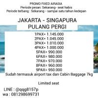 Tiket Pesawat Pulang Pergi Jakarta Singapura