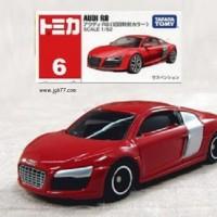6 Audi R8 red tomica takara tomy
