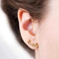 anting nama gold lapis emas asli 24 karat - perhiasan nama