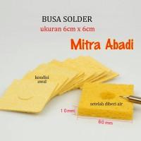 Spon Busa Pembersih Mata Solder/Tip Cleaner Sponge Ukuran 6 x 6 cm