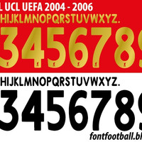 CUSTOM FONT NAMESET LIVERPOOL 2005-06